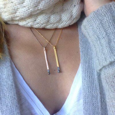 Spirto Necklace worn-danaigiannelli