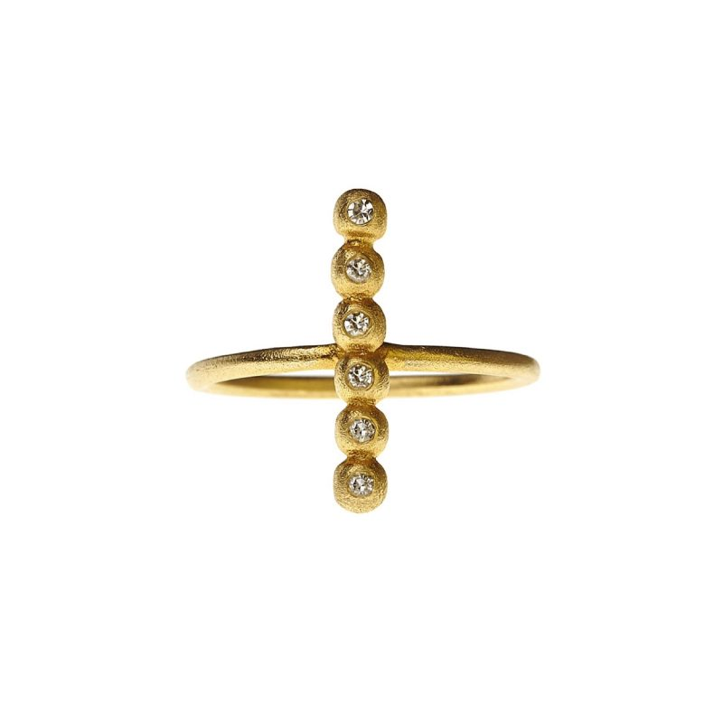 Once Upon A Time Ring Gold Diamonds-danaigiannelli