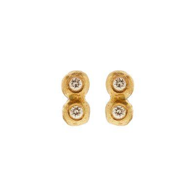 Twins Earrings Diamonds detail-danaigiannelli