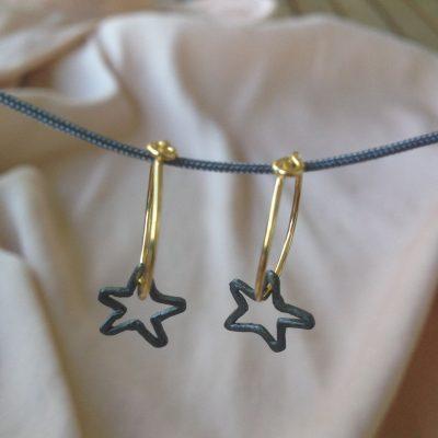 Astra Earrings Black-danaigiannelli