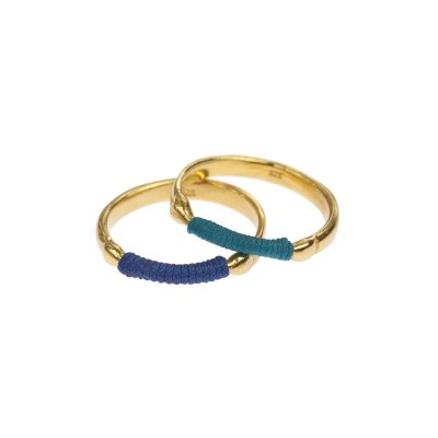 chromata rings gold plated blue-danaigiannelli